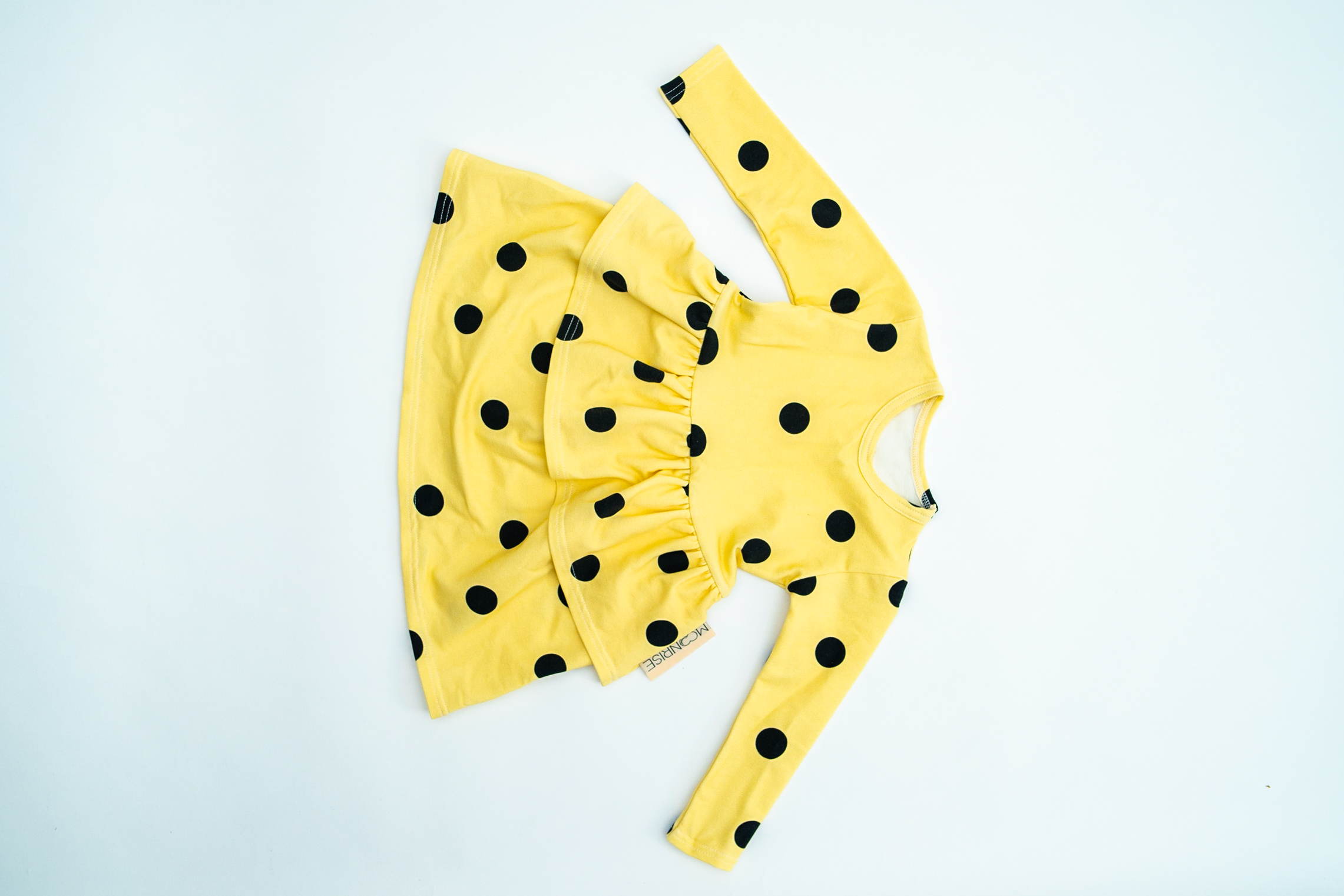 Šaty YELLOW/BLACK DOTS